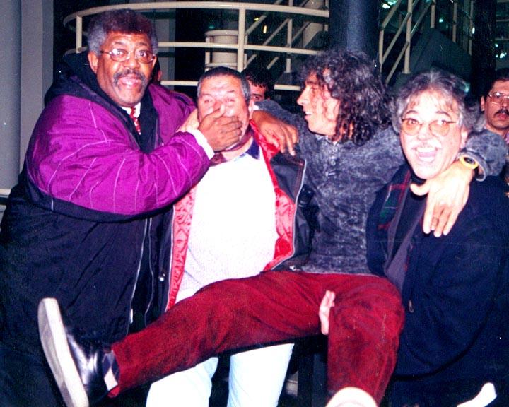Con Rubén Rada y amigos