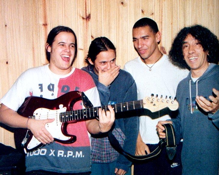 """Urbano y su banda """"La Celeste"""", con Montemurro y hnos. Ibarburu"""